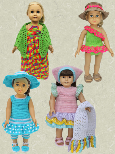 American Girl 18 Doll Crochet Clothing Pattern Downloads Fits