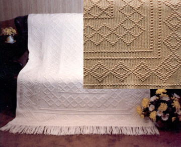 "Navajo Indian - Diamond pattern afghan is : 60"" x 40"" in size."
