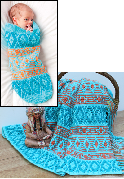 Crochet Patterns Native American : native american afghan and cocoon 813 traditional native american ...