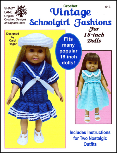 American Girl 18 Doll Crochet Clothing Patterns Fits American Girl